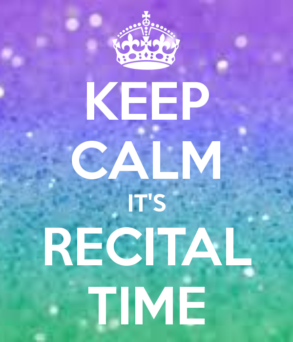 kepp calm its recital day